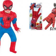 "COSTUM SPIDERMAN ""CU MUSCHI"", BONUS ARMA LUI SPIDERMAN CU MANUSA, TOATE VARSTELE. - Costum petrecere copii"