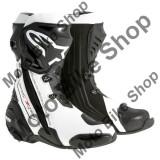 MBS Cizme Alpinestars Racing Supertech R New, negru-alb, 42, Cod Produs: 22200151242AU