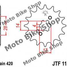 MBS Pinion fata Z12 420 Derbi Senda/GPR 50, Cod Produs: 7261159MA - Pinioane transmisie Moto