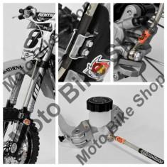 MBS Furtun racing frana fata Moto Master, doar pentru pompa radiala MotoMaster, Cod Produs: 17413041PE - Furtune frana Moto