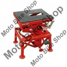 MBS Stender hidraulic MM, inaltime 34cm inchis, 89cm inaltime ridicat, sartcina maxima 135Kg, rosu, Cod Produs: SMX2AU - Elevator motociclete