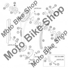 MBS Suport garnitura pompa apa KTM 250 EXC FACTORY 2005 #33, Cod Produs: 59036081100KT - Ax pompa apa Moto