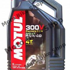 MBS Ulei Motul 300V 4T 10W40 4L, Cod Produs: 104121 - Ulei motor Moto