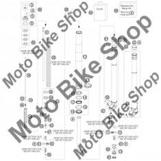 MBS Tub telescop fata KTM 125 EXC 2010 #61, Cod Produs: 48600861S1KT - Amortizor Fata Moto