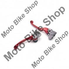 MBS Set manete rabatabile Zeta Flex Profi Honda CRF250+450/07-, rosu, Cod Produs: DF440103AU - Maneta Moto