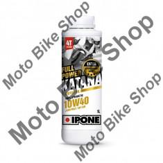 MBS Ulei moto 4T Ipone Full Power Katana 10W40 100% Sintetic ESTER - JASO MA2 - API SM, 220L, Cod Produs: 800271IP - Ulei motor Moto