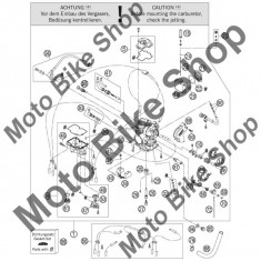 MBS Surub golire carburator KTM 250 EXC-F Europe 2008 #46, Cod Produs: 76231155000KT - Kit reparatie carburator Moto