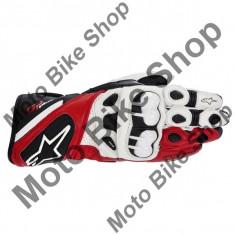 MBS Manusi piele Alpinestars GP Plus, alb/negru/rosu, 2XL, Cod Produs: 35565132132XLAU