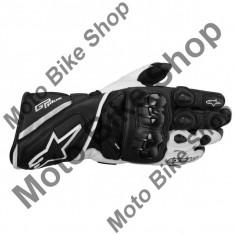 MBS Manusi piele Alpinestars GP Plus, negru/alb, M/9, Cod Produs: 355651312MAU