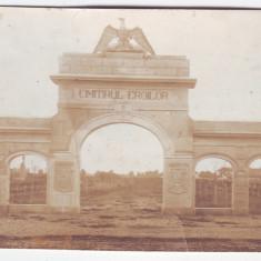 3414 - Olt, CARACAL, heroes Cemetery - old postcard, real PHOTO - used - 1933 - Carte Postala Oltenia dupa 1918, Circulata, Fotografie