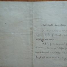 Scrisoare a criticului si Prof. Pompiliu Eliade catre Dimitrie Sturdza, 1906 - Autograf