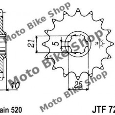 MBS Pinion fata Z16 520 Cagiva Canyon/River/T4E/W12/W16, Cod Produs: 7260664MA - Pinioane transmisie Moto