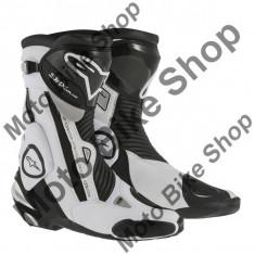 MBS Cizme Alpinestars Racing SMX PLUS, negru-alb, 45, Cod Produs: 22210151245AU - Cizme barbati