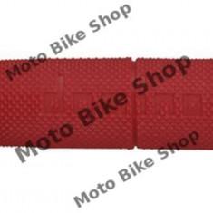 MBS Mansoane cross/enduro Domino rosii/ lungime-118mm, Cod Produs: 184160480RM - Mansoane Moto