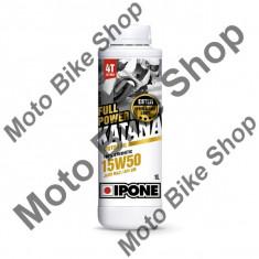 MBS Ulei moto 4T Ipone Full Power Katana 15W50 100% Sintetic ESTER - JASO MA2 - API SM, 220L, Cod Produs: 800404IP - Ulei motor Moto
