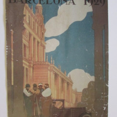 AFIS VECHI-1929-EXPOZITIA INTERNATIONALA DE ARTA TEXTILA-BARCELONA