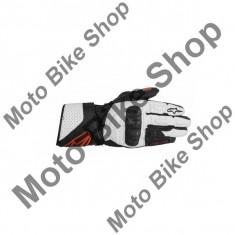 MBS Manusi piele Alpinestars SP-8, negru/alb/rosu, M=9, Cod Produs: 3558313123MAU