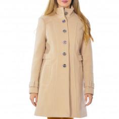 Palton dama Raspberry Mara Bej, Marime: 46, 38