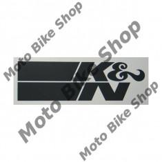 MBS Abtibild tot negru K&N 36x10cm, Cod Produs: 99010784PE - Stikere Moto