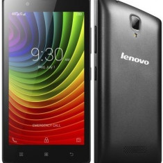 Lenovo A2010 Dual Sim Black - Telefon mobil Lenovo, Negru, 8GB, Neblocat, Quad core