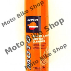 MBS Repsol Brake & Parts Contact Cleaner 400 ml, Cod Produs: 004353 - Solutie curatat frane Auto