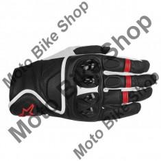 MBS Manusi piele Alpinestars Celer Black, negru/alb/rosu, 2XL=12, Cod Produs: 35670141232XLAU