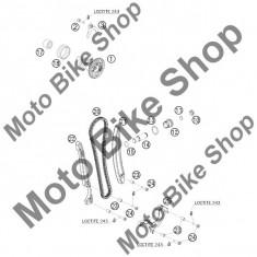 MBS Patina fixa lant distributie KTM 400 EXC 2009 #22, Cod Produs: 78036001000KT - Lant distributie Moto