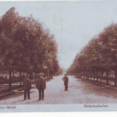 2307 - Buzau, Ramnicu SARAT, drumul spre GARA - old postcard - unused - Carte Postala Muntenia 1904-1918, Necirculata, Printata