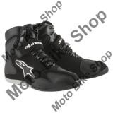 MBS Ghete moto impermeabile Alpinestars Fastback WP, negru-alb, 6=38, Cod Produs: 2510014126AU