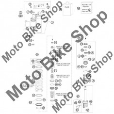 MBS Arc telescop spate 66N/MM portocaliu #40, Cod Produs: 91210054SKT - Amortizor Spate Moto