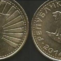 Macedonia 1 denar 2014, Europa