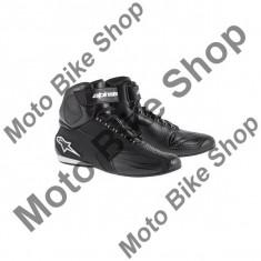 MBS Ghete moto Alpinestars Faster, negru, 12.5=46, Cod Produs: 251021410125AU - Cizme barbati