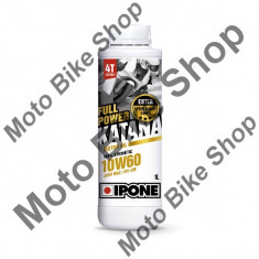 MBS Ulei moto 4T Ipone Full Power Katana 10W60 100% Sintetic ESTER - JASO MA2 - API SM, 60L, Cod Produs: 800401IP - Ulei motor Moto