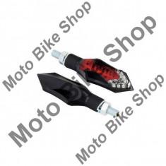 MBS Set mini semnalizare led Blade cu pozitie/stop frana, lungime 75mm, negru, Cod Produs: RLTLED20AU - Semnalizare Moto