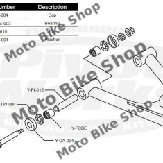 MBS Kit reparatie brate inferioare Yamaha Raptor 660/700, Cod Produs: PWAAKY02000LVP - Pivoti ATV