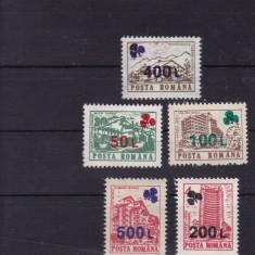 ROMANIA 1998, LP 1454, HOTELURI SI CABANE (UZUALE) 91 SUPRATIPAR TRIFOI MNH - Timbre Romania, Nestampilat