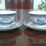 Serviciu Cafea/Ceai Portelan Fin Imperial Blue