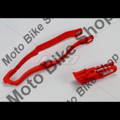 MBS Kit patina + ghidaj lant Honda CRF450 2013, rosu, Cod Produs: HO04665070 - Kit lant transmisie Moto
