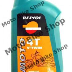 MBS Ulei Repsol Moto V-Twin 4T 20W50 1L, Cod Produs: 004346 - Ulei motor Moto
