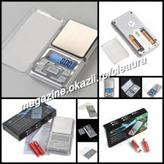 CANTAR ELECTRONIC BUZUNAR BIJUTERII MONEDE TELEFON MOBIL PRECIZIE 0, 1-500g - Cantar bijuterii