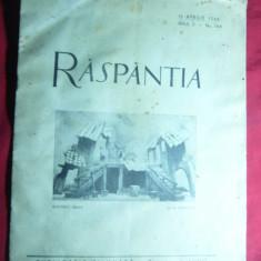Revista Raspantia 15 apr.1946- Director I.Ludo - Carte veche