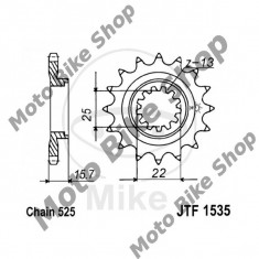 MBS Pinion fata Z15 525 Kawasaki ZX-6 Ninja, Cod Produs: 7260029MA - Pinioane transmisie Moto