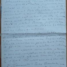 Legatia Romaniei din Paris ; Document semnat olograf de Vasile Alecsandri, 1889 - Autograf
