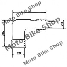 MBS Pipa bujie NGK LD05F, Cod Produs: 7085103MA - Pipe bujii Moto
