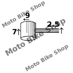 MBS Cablu ambreiaj 2, 5x2000 (punga 10 buc.-pret/1buc.), Cod Produs: 163514050RM - Accesorii Cabluri Moto