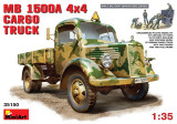 + Macheta 1/35 Miniart 35150 - German Mercedes-Benz L1500A 4X4 Cargo Truck +