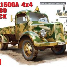 + Macheta 1/35 Miniart 35150 - German Mercedes-Benz L1500A 4X4 Cargo Truck + - Macheta auto