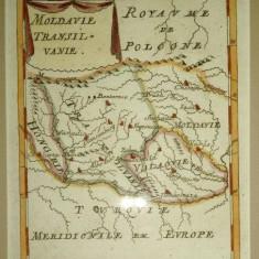 Moldavie Transilvanie Frankfurt, Jean David Zunner 1686 - Harta Romaniei