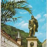 Bnk cp Baile Herculane - Statuia lui Hercule - circulata - marca fixa - Carte Postala Banat dupa 1918, Printata
