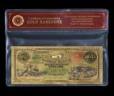 100 DOLARI 1864 S.U.A.- BANCNOTA POLYMER AURIT CU AUR 24K